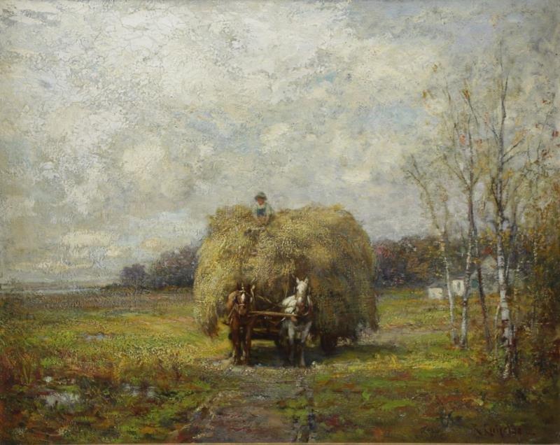 """CREIFELDS, Richard. Oil on Canvas. """"Sag Harbor""""."""