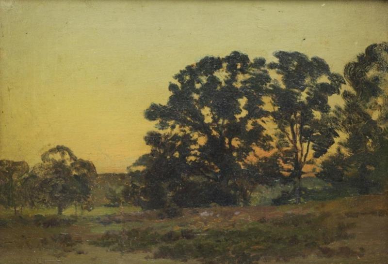SMYTHE, Eugene L. Oil on Canvas. Twilight