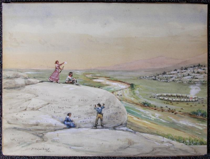 JACKSON, William Henry. Watercolor on Paper of