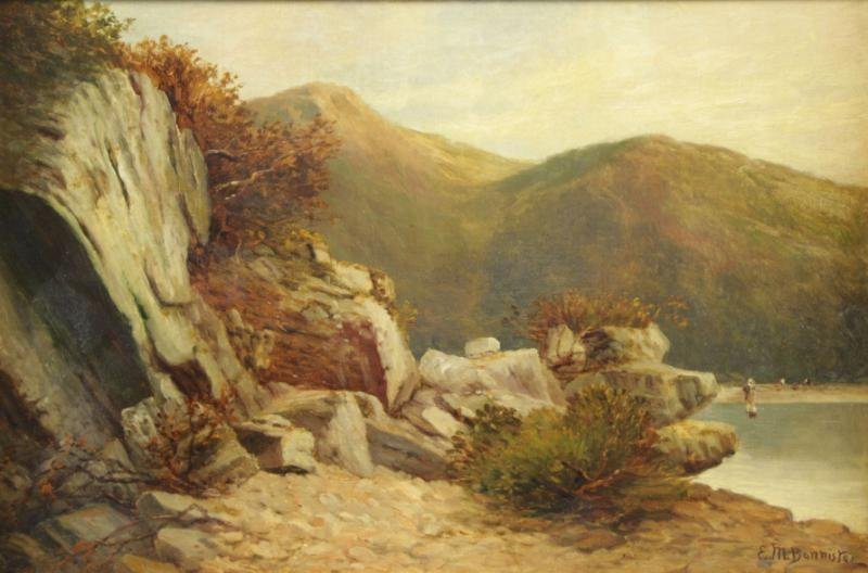 BANNISTER, Edward M. Oil on Canvas. Rhode Island