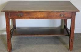 LJG Stickley Mission Oak Library Table