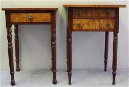 Two American Sheraton Work Tables.