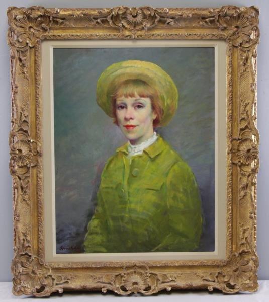 BERNATSCHKE, Rudolf. Oil on Canvas. Portrait of a