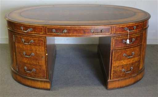 Maitland smith oval leathertop partners desk gumiabroncs Image collections