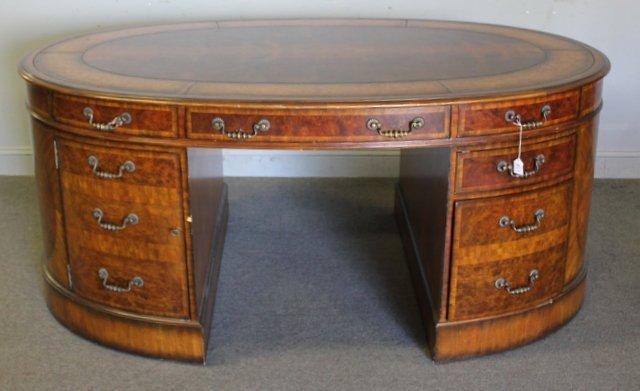 Smith oval leathertop partners desk maitland smith oval leathertop partners desk gumiabroncs Choice Image