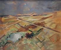 FLOCH, Joseph. Oil on Canvas Landscape.