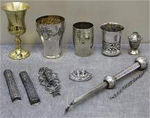 JUDAICA. Miscellaneous Judaica Grouping.