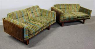 Midcentury Pair of France  Sons Sofas