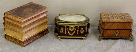 Antique Lot of Boxes Including a Quality Gilt