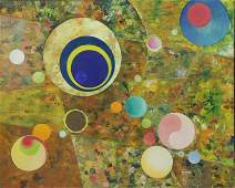 HYER. Mid 20th C. Abstract Oil on Canvas.