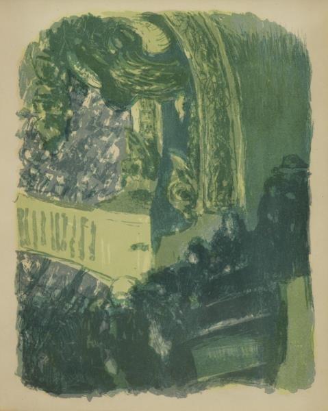 "VUILLARD, Edouard. Lithograph ""A Gallery at the"