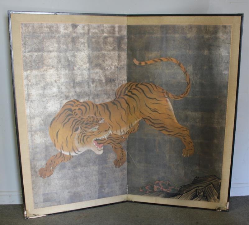 3 Vintage Asian Screens As / Is - 2
