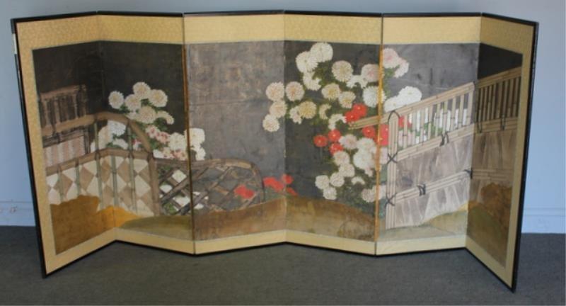 3 Vintage Asian Screens As / Is - 7