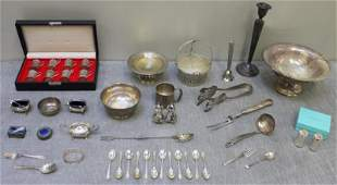 STERLING. Assorted Silver Flatware and Hollow Ware