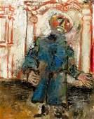 MOSTEL Zero Oil on Board of a Modernist Figure
