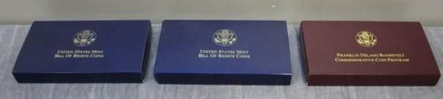 U.S. Mint 1993 Bill of Rights Proof set (3 coin).