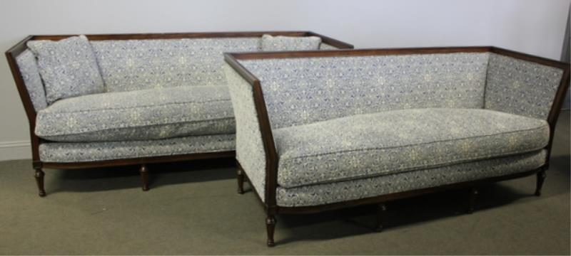 Pair of Ralph Lauren Upholstered Settees.