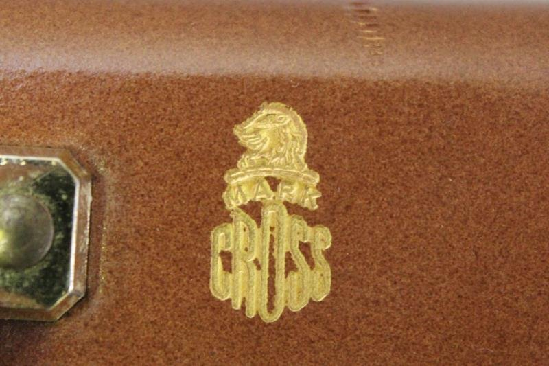 Vintage Mark Cross Leather Vanity Case. - 4