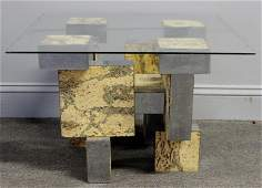 Midcentury Paul Evans Burl and Chrome Coffee Table