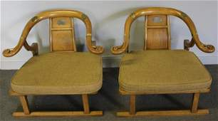 Pair of Michael Taylor  Baker Asian Modern Chairs
