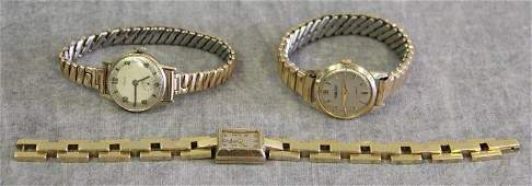 JEWELRY 14kt Gold Ladies Watch Grouping