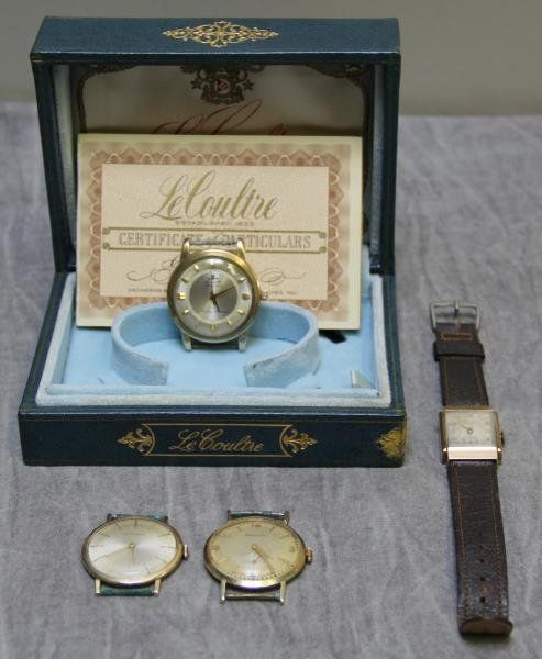 JEWELRY. Men's Gold Watch Grouping.