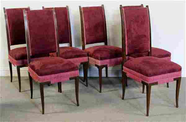 Midcentury Set of 6 Tommi Parzinger Dining Chairs.