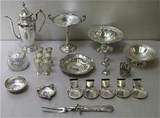 STERLING. Large Miscellaneous Silver Grouping.