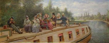 HENRY Edward Lamson Oil on Board Before the