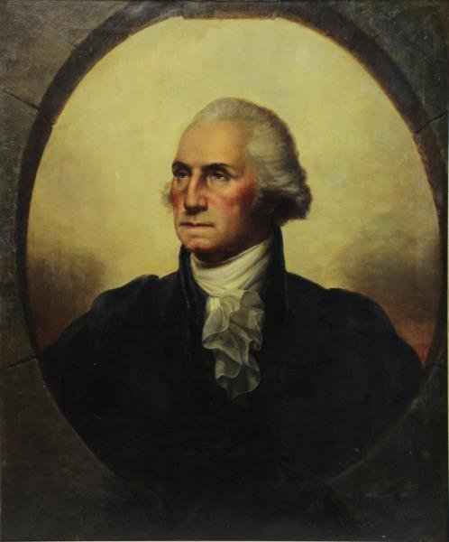 After Rembrandt Peale. Oil on Canvas Portrait of