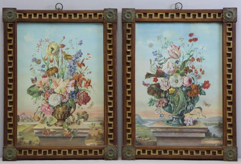 JUNGLING, Frederick. Pair of Floral Still Lifes.