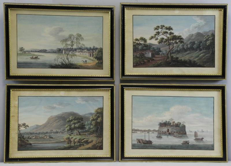 Set of 4 Chinese Export Gouaches.
