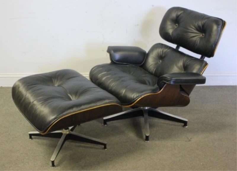 Midcentury Eames 670/ 671 Lounge Chair & Ottoman.