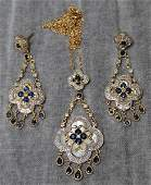 JEWELRY. 14kt Gold, Diamond, Sapphire and Mother