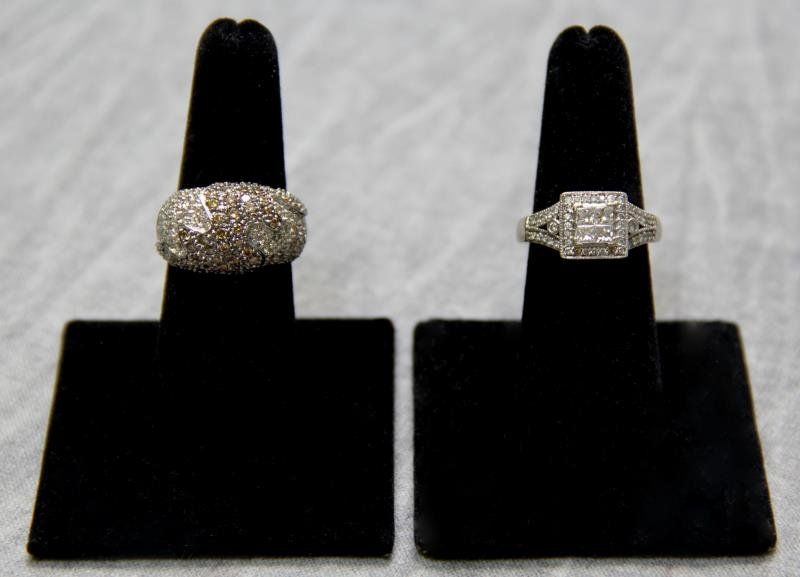 JEWELRY. Ladies Diamond Ring Grouping.