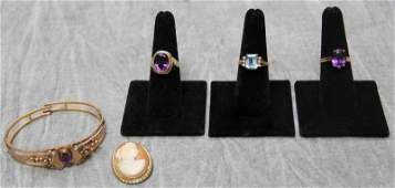 JEWELRY. Ladies Gold Jewelry Grouping.