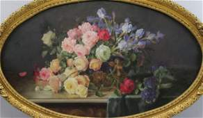 ZABEHLICKY, Alois. Still Life with Bouquet of