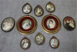 Lot of Vintage Framed Miniature Paintings.