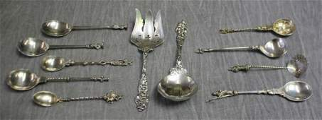 STERLING Miscellaneous Silver Flatware Grouping