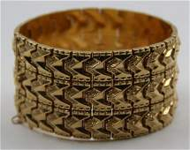 JEWELRY. 18kt Yellow Gold Articulated Bracelet.