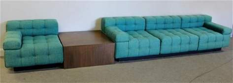 Midcentury Harvey Probber Green Tufted Sectional