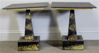 Pair of Paul Evans for Directional Side Tables.