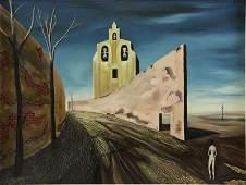 """GUILLOT, Alvaro. Oil on Canvas. """"La Chapelle"""