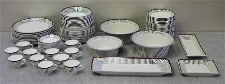 Midcentury Gustavsberg Spisa-Ribb Porcelain