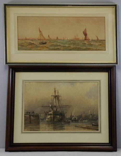 Two Late 19th C. Marine Watercolors.