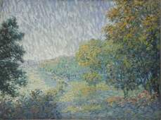 Early 20th C Oil on Board American Impressionist