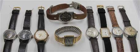 WATCHES. Grouping of Men's Wristwatches.