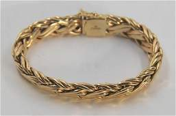 JEWELRY. Tiffany & Co. 14kt Gold Bracelet.