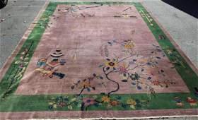 Large Art Deco Nicholls Style Chinese Carpet.