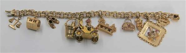 JEWELRY 14kt Gold Charm Bracelet